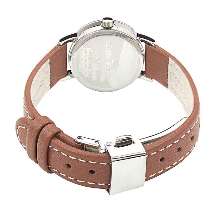 ザ・クロックハウス ナチュラルカジュアル LNC1001-WH2B レディース 腕時計 ソーラー 革ベルト ブラウン ホワイト|theclockhouse-y|05