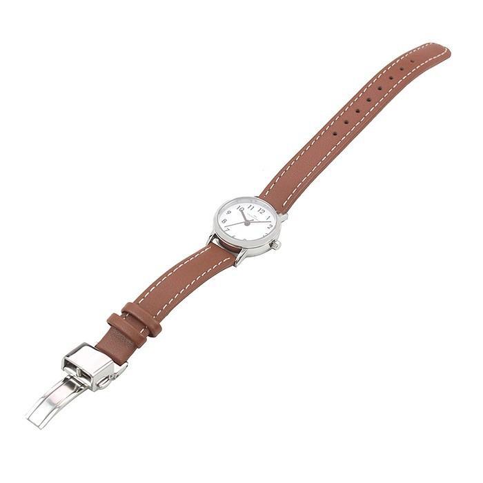 ザ・クロックハウス ナチュラルカジュアル LNC1001-WH2B レディース 腕時計 ソーラー 革ベルト ブラウン ホワイト|theclockhouse-y|06