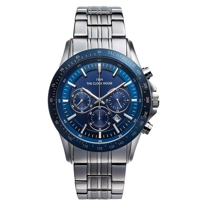 ザ・クロックハウス MBC1003-BL1A ビジネスカジュアル メンズ 腕時計 ソーラー ステンレス ブルー メタル クロノグラフ 雑誌掲載 theclockhouse-y 02