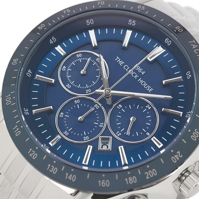 ザ・クロックハウス MBC1003-BL1A ビジネスカジュアル メンズ 腕時計 ソーラー ステンレス ブルー メタル クロノグラフ 雑誌掲載|theclockhouse-y|04