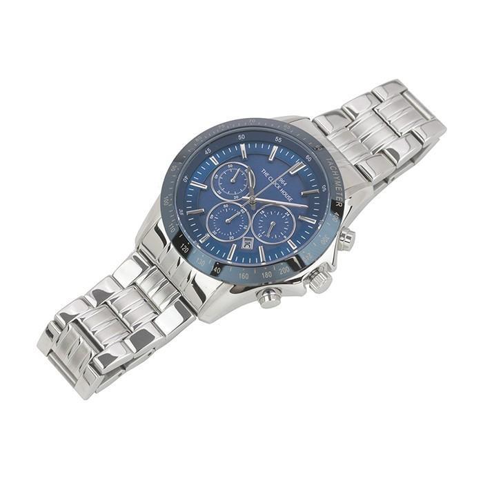 ザ・クロックハウス MBC1003-BL1A ビジネスカジュアル メンズ 腕時計 ソーラー ステンレス ブルー メタル クロノグラフ 雑誌掲載 theclockhouse-y 06