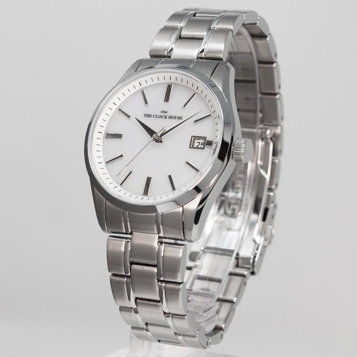 ザ・クロックハウス MBF1006-WH1A ビジネスフォーマル メンズ 腕時計 ソーラー ステンレス ホワイト 雑誌掲載 THE CLOCK HOUSE theclockhouse-y 03