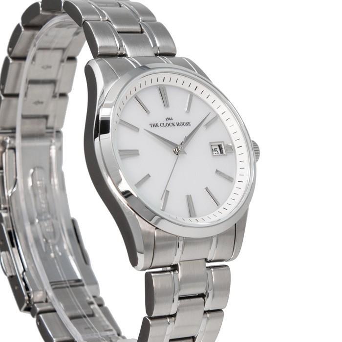 ザ・クロックハウス MBF1006-WH1A ビジネスフォーマル メンズ 腕時計 ソーラー ステンレス ホワイト 雑誌掲載 THE CLOCK HOUSE theclockhouse-y 05