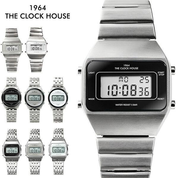 ザ・クロックハウス タウンカジュアル メタル デジタル ユニセックス 腕時計 ブラック グレー ホワイト レトロモダン 防水 MTC700 theclockhouse-y