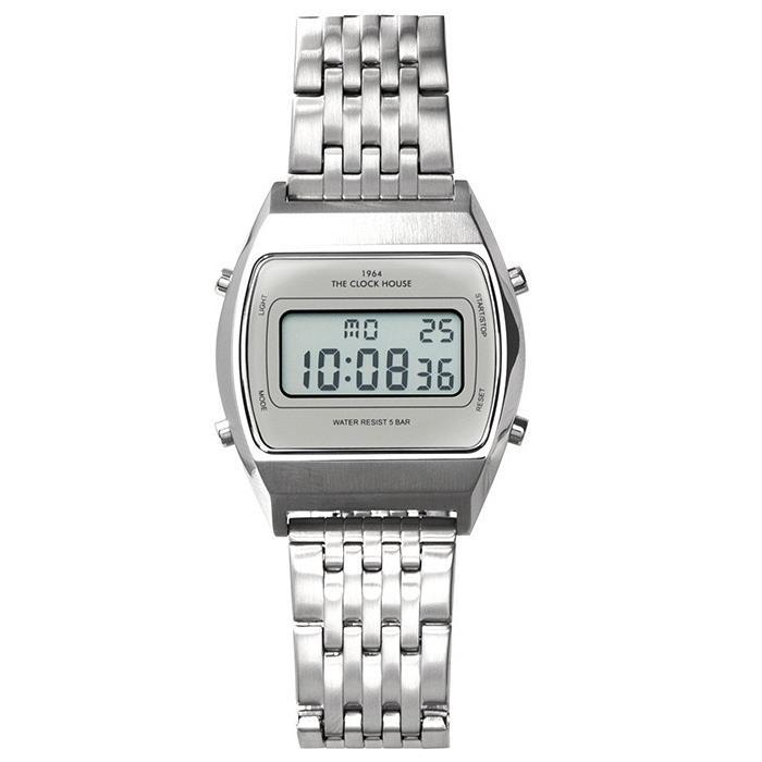 ザ・クロックハウス タウンカジュアル メタル デジタル ユニセックス 腕時計 トノー グレー シルバー レトロモダン 防水 MTC7003-GY1A|theclockhouse-y|02