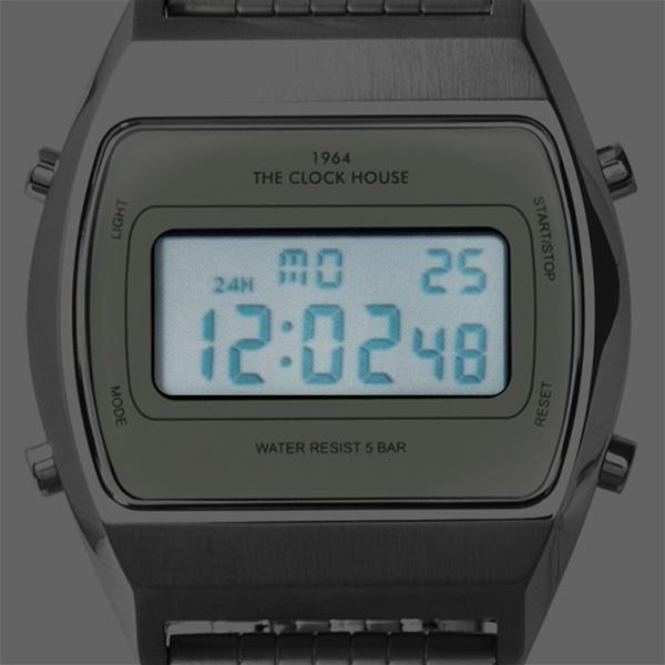 ザ・クロックハウス タウンカジュアル メタル デジタル ユニセックス 腕時計 トノー グレー シルバー レトロモダン 防水 MTC7003-GY1A|theclockhouse-y|11