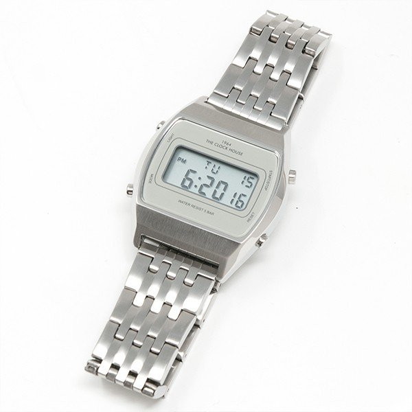 ザ・クロックハウス タウンカジュアル メタル デジタル ユニセックス 腕時計 トノー グレー シルバー レトロモダン 防水 MTC7003-GY1A|theclockhouse-y|06