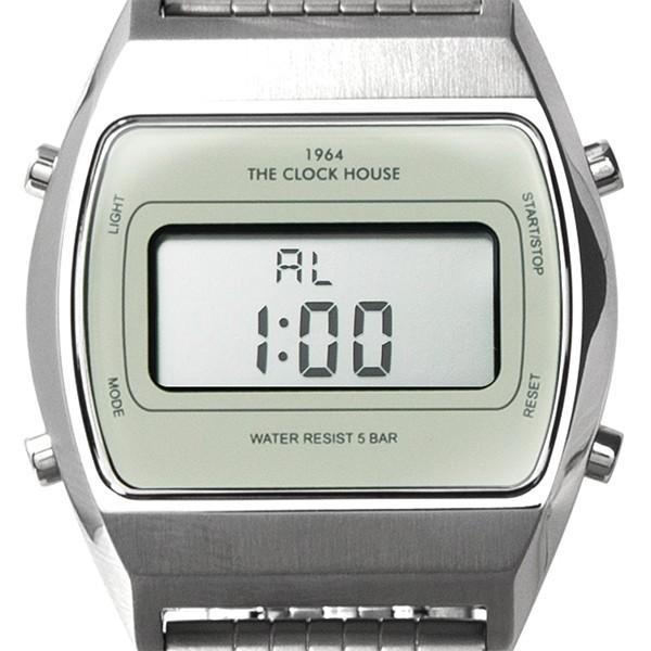 ザ・クロックハウス タウンカジュアル メタル デジタル ユニセックス 腕時計 トノー グレー シルバー レトロモダン 防水 MTC7003-GY1A|theclockhouse-y|08
