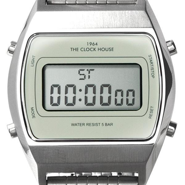 ザ・クロックハウス タウンカジュアル メタル デジタル ユニセックス 腕時計 トノー グレー シルバー レトロモダン 防水 MTC7003-GY1A|theclockhouse-y|09