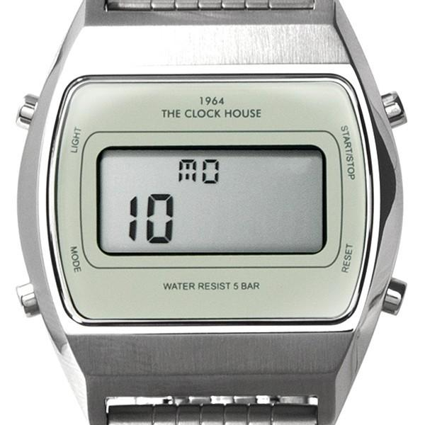 ザ・クロックハウス タウンカジュアル メタル デジタル ユニセックス 腕時計 トノー グレー シルバー レトロモダン 防水 MTC7003-GY1A|theclockhouse-y|10