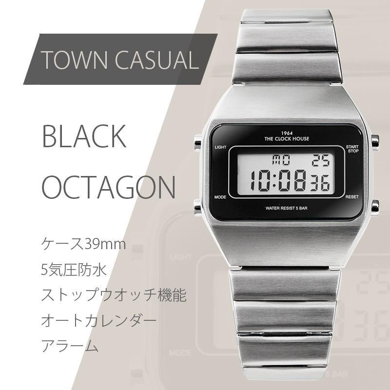 ザ・クロックハウス タウンカジュアル メタル デジタル ユニセックス 腕時計 ブラック グレー ホワイト レトロモダン 防水 MTC700 theclockhouse-y 02