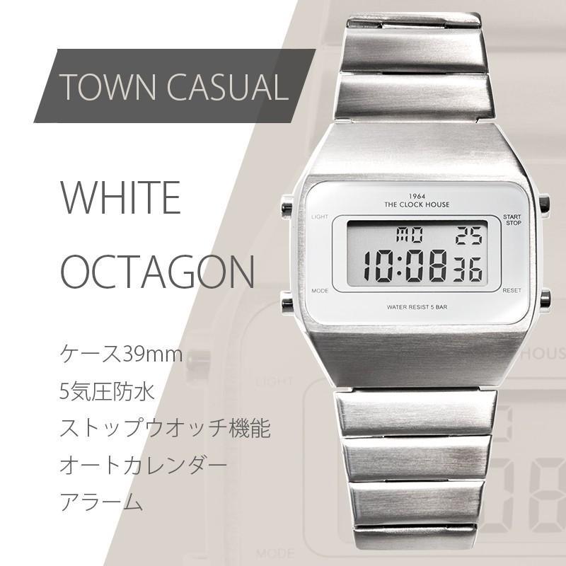 ザ・クロックハウス タウンカジュアル メタル デジタル ユニセックス 腕時計 ブラック グレー ホワイト レトロモダン 防水 MTC700 theclockhouse-y 04