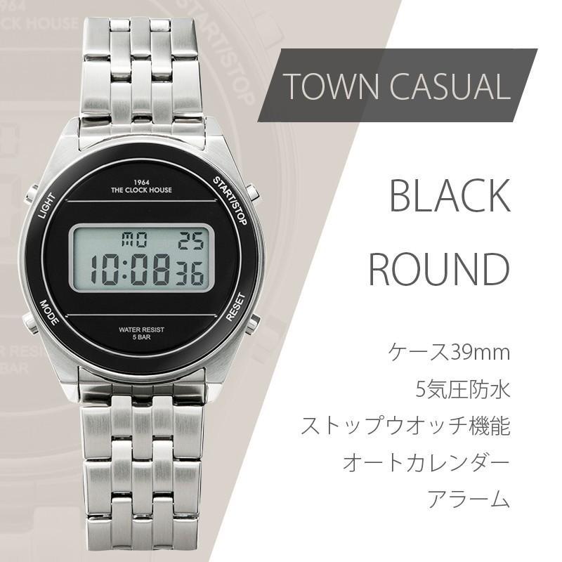 ザ・クロックハウス タウンカジュアル メタル デジタル ユニセックス 腕時計 ブラック グレー ホワイト レトロモダン 防水 MTC700 theclockhouse-y 05