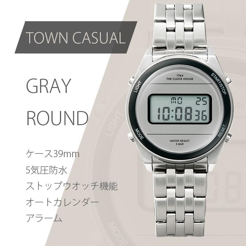 ザ・クロックハウス タウンカジュアル メタル デジタル ユニセックス 腕時計 ブラック グレー ホワイト レトロモダン 防水 MTC700 theclockhouse-y 06