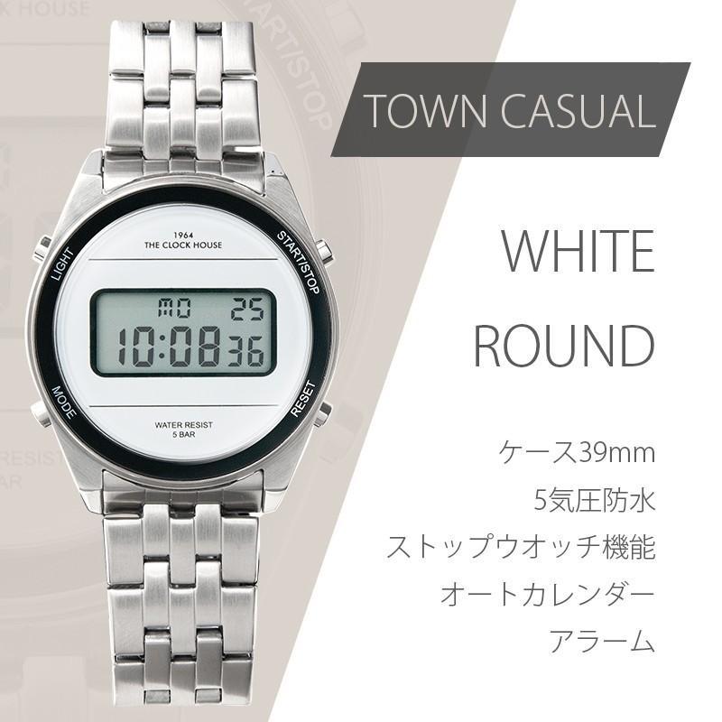 ザ・クロックハウス タウンカジュアル メタル デジタル ユニセックス 腕時計 ブラック グレー ホワイト レトロモダン 防水 MTC700 theclockhouse-y 07