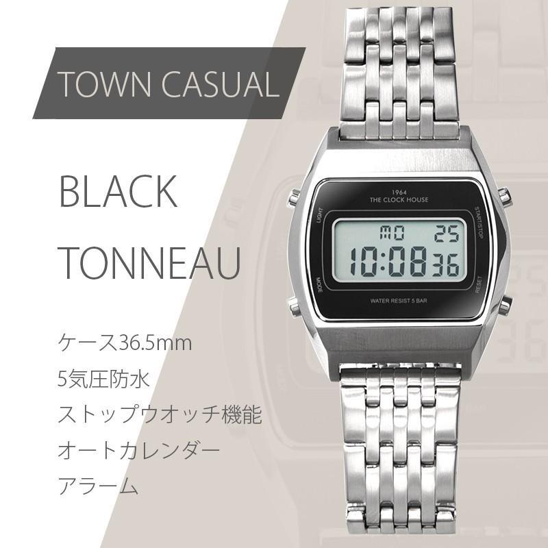 ザ・クロックハウス タウンカジュアル メタル デジタル ユニセックス 腕時計 ブラック グレー ホワイト レトロモダン 防水 MTC700 theclockhouse-y 08