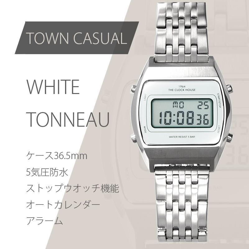 ザ・クロックハウス タウンカジュアル メタル デジタル ユニセックス 腕時計 ブラック グレー ホワイト レトロモダン 防水 MTC700 theclockhouse-y 10