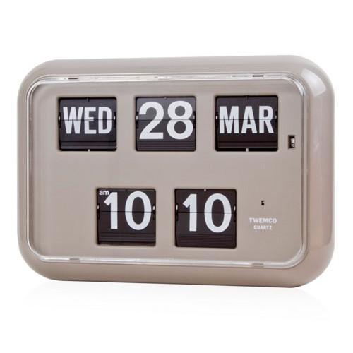 TWEMCO トゥエンコ 掛置兼用 パタパタ時計 フリップクロック パーペチュアルカレンダー グレー QD-35|theclockhouse-y|02