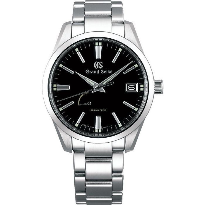 グランドセイコー スプリングドライブ 9R メンズ 腕時計 SBGA301 ブラック メタルベルト カレンダー|theclockhouse-y|02