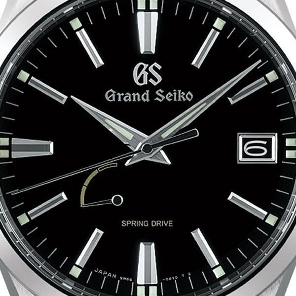 グランドセイコー スプリングドライブ 9R メンズ 腕時計 SBGA301 ブラック メタルベルト カレンダー|theclockhouse-y|03