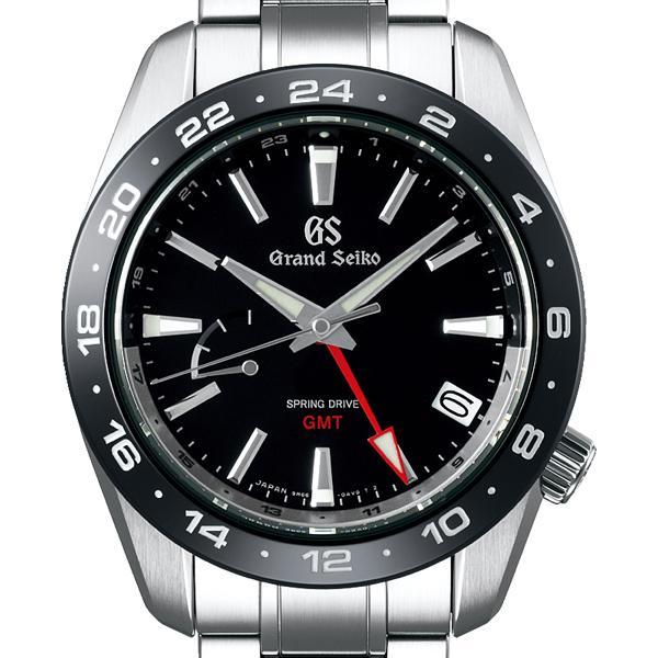 グランドセイコー 9R スプリングドライブ GMT SBGE253 メンズ 腕時計 ブラック セラミックス メタルベルト スクリューバック 9R66 theclockhouse-y 03