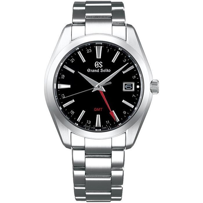 グランドセイコー 9Fクオーツ GMT メンズ 腕時計 SBGN013 ブラック メタルベルト カレンダー スクリューバック 9F86|theclockhouse-y|02