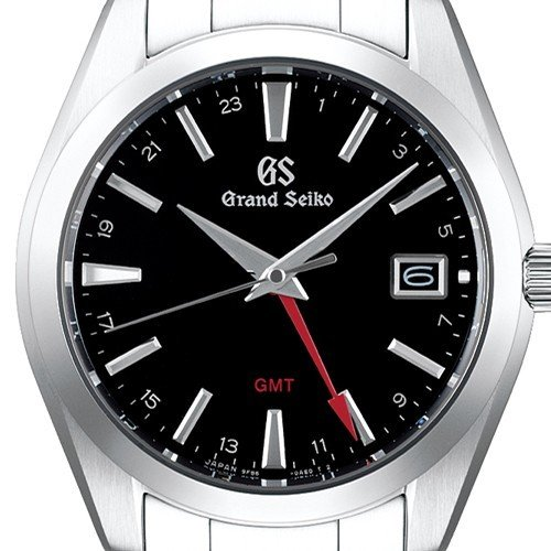 グランドセイコー 9Fクオーツ GMT メンズ 腕時計 SBGN013 ブラック メタルベルト カレンダー スクリューバック 9F86|theclockhouse-y|03