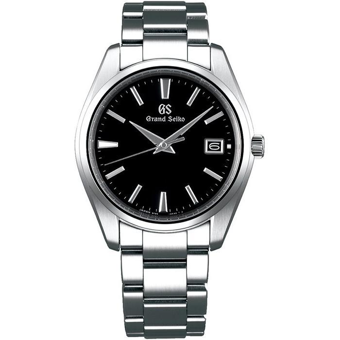 グランドセイコー クオーツ 9F メンズ 腕時計 SBGP011 ブラック メタルベルト スクリューバック 時差修正機能 9F85|theclockhouse-y|02
