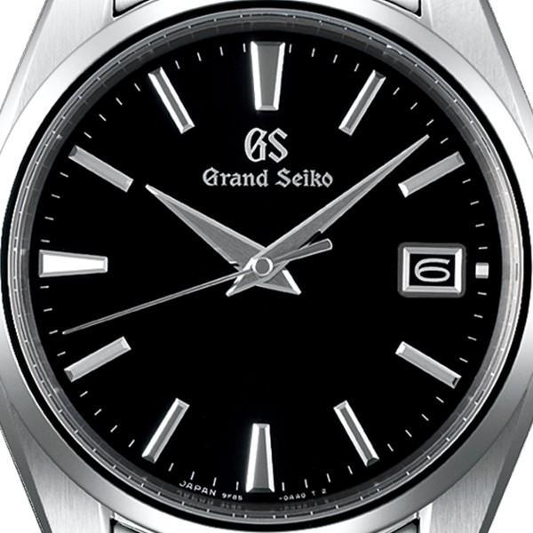 グランドセイコー クオーツ 9F メンズ 腕時計 SBGP011 ブラック メタルベルト スクリューバック 時差修正機能 9F85|theclockhouse-y|04