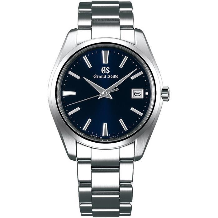 グランドセイコー クオーツ 9F メンズ 腕時計 SBGP013 ネイビー メタルベルト スクリューバック 時差修正機能 9F85|theclockhouse-y|02