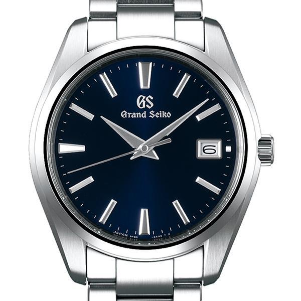 グランドセイコー クオーツ 9F メンズ 腕時計 SBGP013 ネイビー メタルベルト スクリューバック 時差修正機能 9F85|theclockhouse-y|03