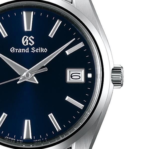 グランドセイコー クオーツ 9F メンズ 腕時計 SBGP013 ネイビー メタルベルト スクリューバック 時差修正機能 9F85|theclockhouse-y|05
