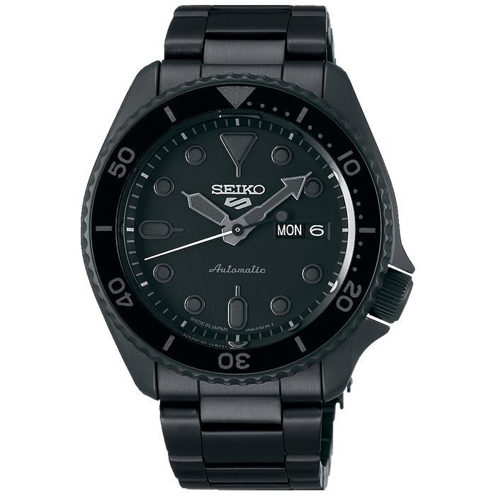 セイコー 5スポーツ ストリート 流通限定モデル SBSA075 メンズ 腕時計 メカニカル 自動巻き 機械式 メタル ブラック 日本製 ショップ専売|theclockhouse-y|02