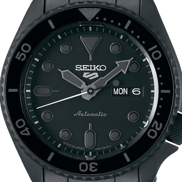 セイコー 5スポーツ ストリート 流通限定モデル SBSA075 メンズ 腕時計 メカニカル 自動巻き 機械式 メタル ブラック 日本製 ショップ専売|theclockhouse-y|03
