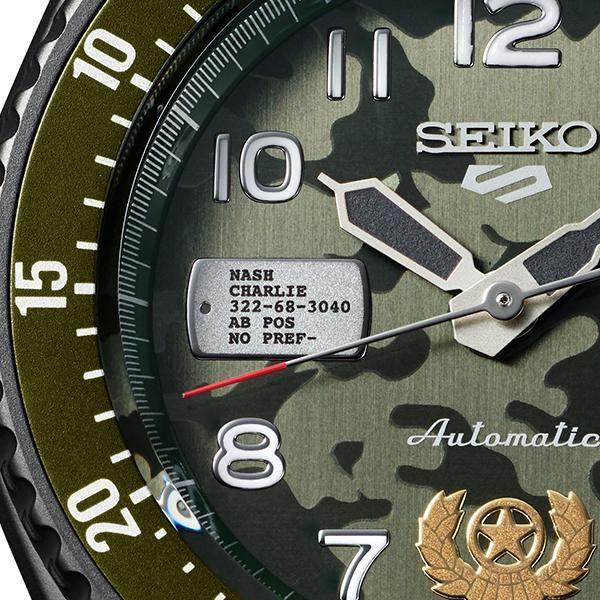 セイコー 5スポーツ ストリートファイターV コラボ 限定 ガイル SBSA081 メンズ 腕時計 メカニカル レザーバンド 日本製 STREET FIGHTER GUILE|theclockhouse-y|11