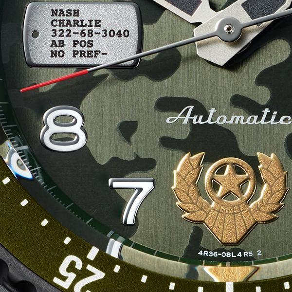セイコー 5スポーツ ストリートファイターV コラボ 限定 ガイル SBSA081 メンズ 腕時計 メカニカル レザーバンド 日本製 STREET FIGHTER GUILE|theclockhouse-y|16