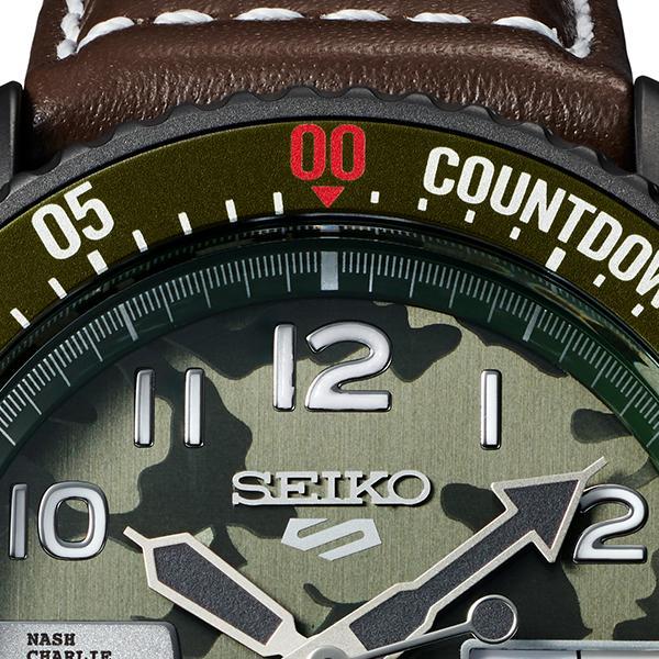 セイコー 5スポーツ ストリートファイターV コラボ 限定 ガイル SBSA081 メンズ 腕時計 メカニカル レザーバンド 日本製 STREET FIGHTER GUILE|theclockhouse-y|10