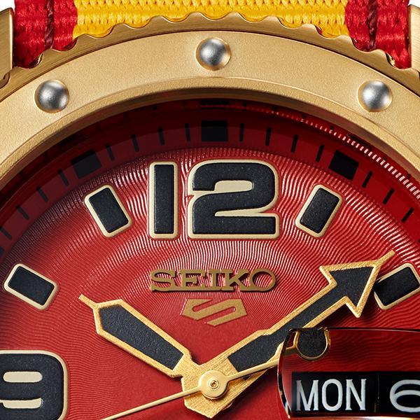 セイコー 5スポーツ ストリートファイターV コラボ 限定 ザンギエフ SBSA084 メンズ 腕時計 メカニカル ナイロン 日本製 STREET FIGHTER V theclockhouse-y 10