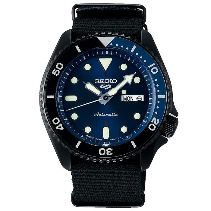 セイコー 5スポーツ ストリート 流通限定モデル SBSA099 メンズ 腕時計 メカニカル 自動巻き ナイロン ブラック 日本製|theclockhouse-y|02