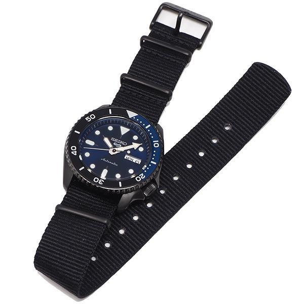 セイコー 5スポーツ ストリート 流通限定モデル SBSA099 メンズ 腕時計 メカニカル 自動巻き ナイロン ブラック 日本製|theclockhouse-y|11