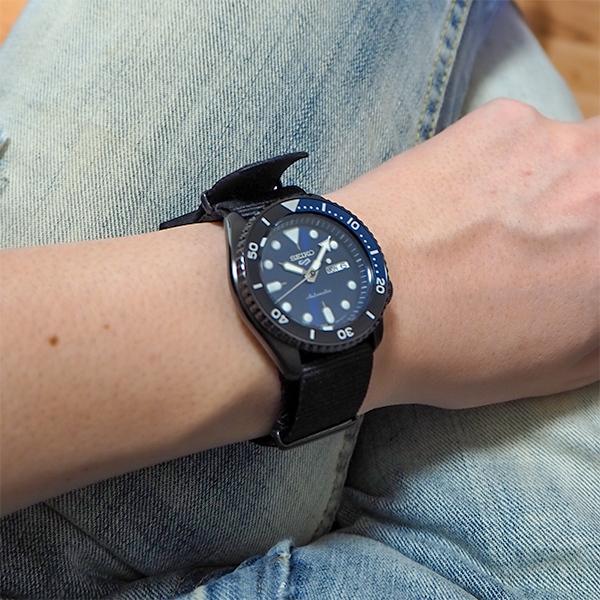 セイコー 5スポーツ ストリート 流通限定モデル SBSA099 メンズ 腕時計 メカニカル 自動巻き ナイロン ブラック 日本製|theclockhouse-y|12