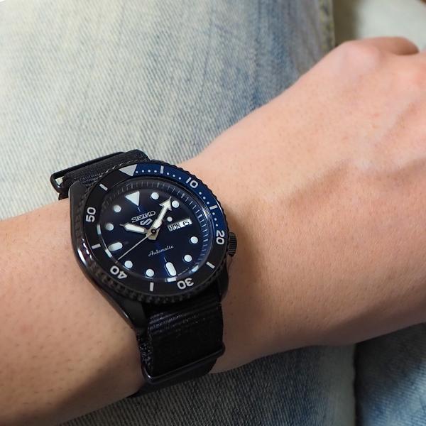 セイコー 5スポーツ ストリート 流通限定モデル SBSA099 メンズ 腕時計 メカニカル 自動巻き ナイロン ブラック 日本製|theclockhouse-y|13