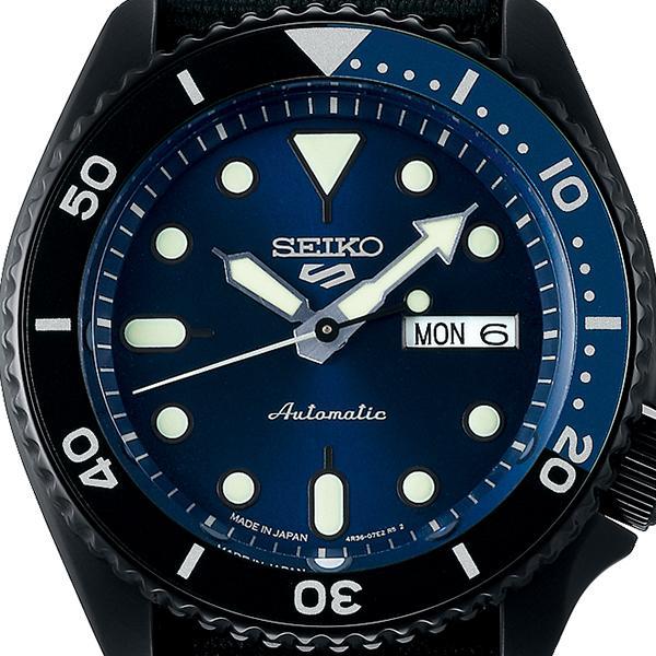 セイコー 5スポーツ ストリート 流通限定モデル SBSA099 メンズ 腕時計 メカニカル 自動巻き ナイロン ブラック 日本製|theclockhouse-y|03