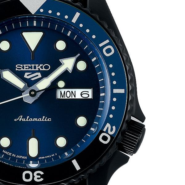 セイコー 5スポーツ ストリート 流通限定モデル SBSA099 メンズ 腕時計 メカニカル 自動巻き ナイロン ブラック 日本製|theclockhouse-y|05