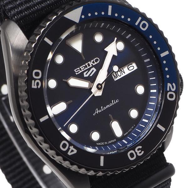 セイコー 5スポーツ ストリート 流通限定モデル SBSA099 メンズ 腕時計 メカニカル 自動巻き ナイロン ブラック 日本製|theclockhouse-y|06
