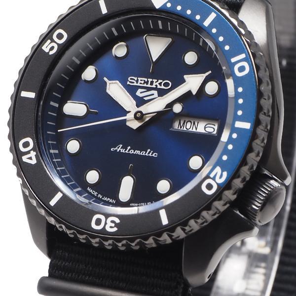 セイコー 5スポーツ ストリート 流通限定モデル SBSA099 メンズ 腕時計 メカニカル 自動巻き ナイロン ブラック 日本製|theclockhouse-y|07