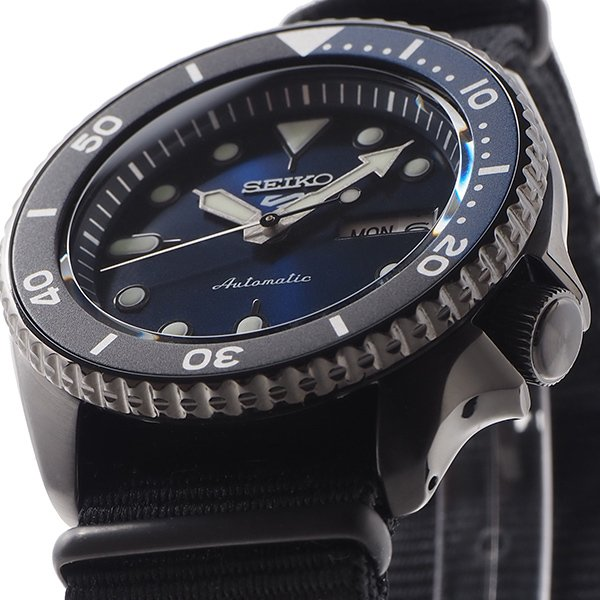 セイコー 5スポーツ ストリート 流通限定モデル SBSA099 メンズ 腕時計 メカニカル 自動巻き ナイロン ブラック 日本製|theclockhouse-y|08