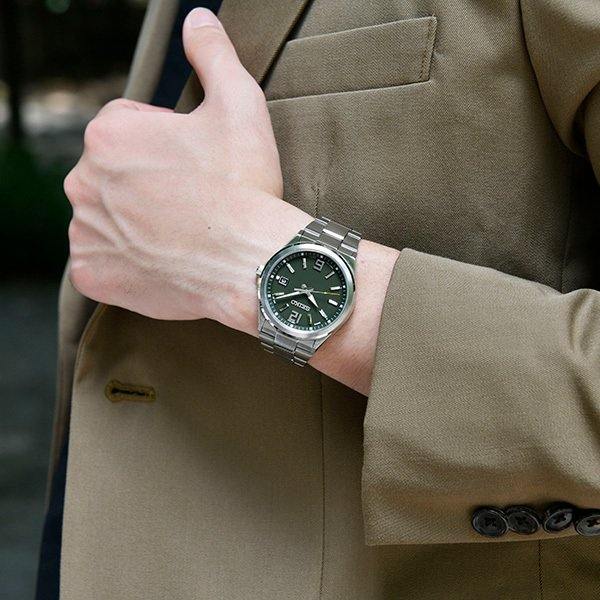 セイコー セレクション master-piece マスターピース 監修 流通限定モデル SBTM303 メンズ 腕時計 ソーラー電波 ギョーシェ模様 グリーン theclockhouse-y 06