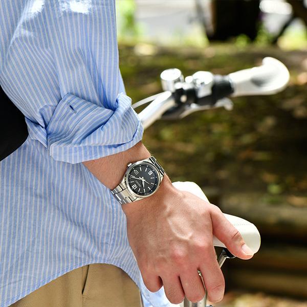 セイコー セレクション master-piece マスターピース 監修 流通限定モデル SBTM307 メンズ 腕時計 ソーラー電波 ギョーシェ模様 ブラック|theclockhouse-y|06