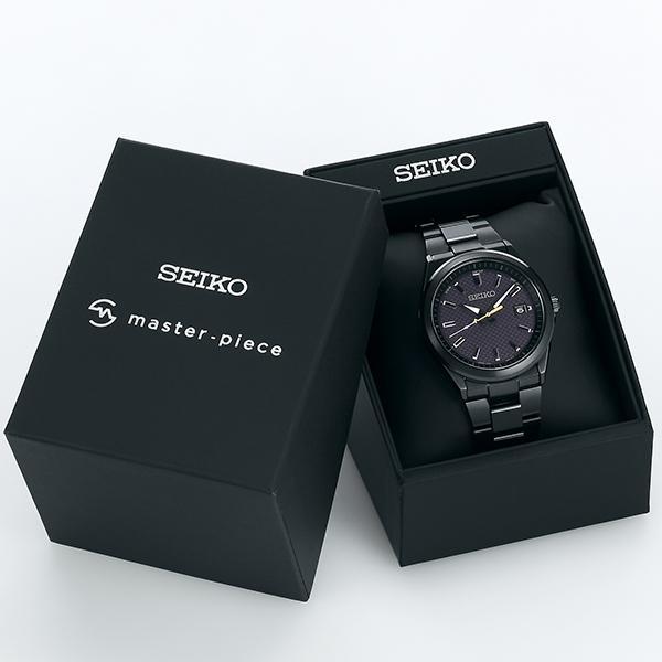 セイコー セレクション master-piece マスターピース コラボレーション 限定モデル SBTM309 メンズ 腕時計 ソーラー電波 ブラック 日本製|theclockhouse-y|07